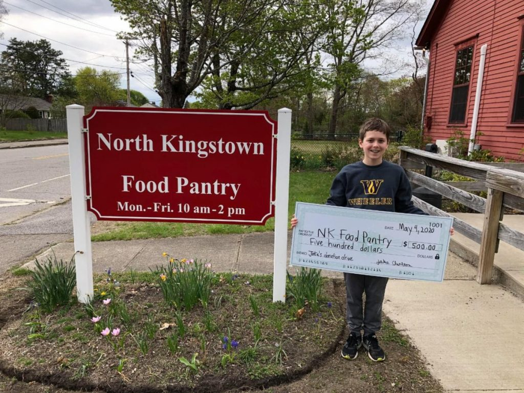 Jake Charlton raises $500 for the Food Pantry