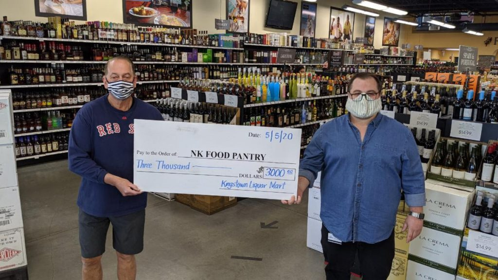 NK Liquor Mart continues to raise money for the Food Pantry